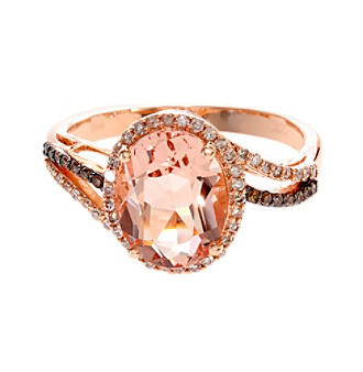 5f8f47eeaa5a6f UPC 617892987977 product image for Effy® Blush Collection Morganite And  0.25 Ct. T.W. Diamond ...