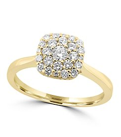 Effy® D'oro Collection 0.50 Ct. T.W. Diamond Ring In 14K Yellow Gold