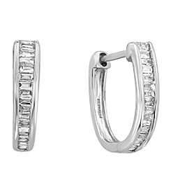 Effy® 0.50 Ct. T.W. Diamond Earrings In 14K White Gold