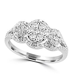 Effy® Bouquet Collection 0.63 Ct. T.W. Diamond Ring In 14K White Gold