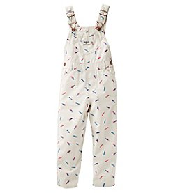 OshKosh B'Gosh® Baby Girls' Feather Overalls