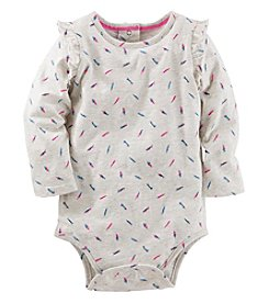 OshKosh B'Gosh® Baby Girls' Feathers Bodysuit