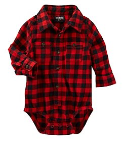 OshKosh B'Gosh® Baby Boys Plaid Collared Bodysuit