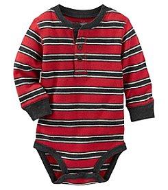 OshKosh B'Gosh® Baby Boys Striped Thermal Bodysuit