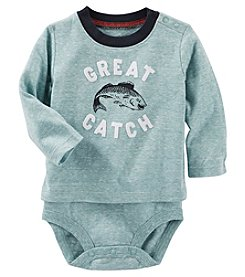 OshKosh B'Gosh® Baby Boys Great Catch Double Decker Bodysuit