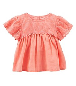 OshKosh B'Gosh® Baby Girls' Flutter Sleeve Top
