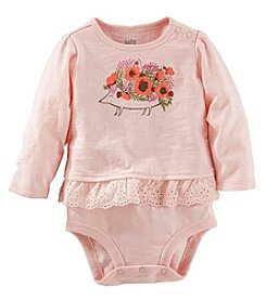 OshKosh B'Gosh® Baby Girls' Hedgehog Double Decker Bodysuit