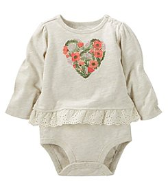 OshKosh B'Gosh® Baby Girls' Heart Double Decker Bodysuit