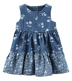 OshKosh B'Gosh® Baby Girls' Floral Chambray Dress Set