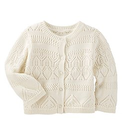 OshKosh B'Gosh® Baby Girls' Open Weave Cardigan