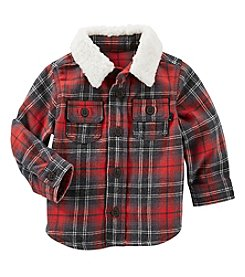 OshKosh B'Gosh® Baby Boys Plaid Faux Sherpa Jacket