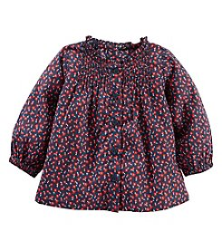 OshKosh B'Gosh® Baby Girls' Floral Pin Tuck Top