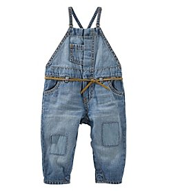 OshKosh B'Gosh® Baby Girls' Patched Overalls