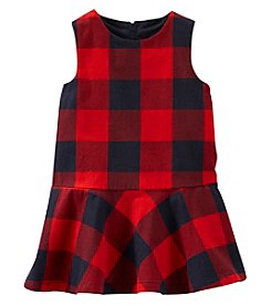 OshKosh B'Gosh® Baby Girls' Plaid Drop Waist Dress