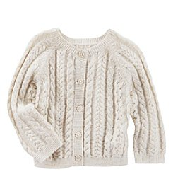 OshKosh B'Gosh® Baby Girls' Cable Knit Cardigan