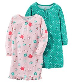 Carter's® Girls' 4-14 2-Pack Tea Party Nightgowns