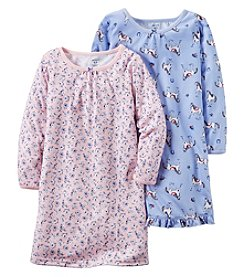 Carter's® Girls' 4-14 2-Pack Horses & Flowers Nightgowns