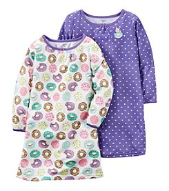 Carter's® Girls' 4-14 2-Pack Donuts Nightgowns