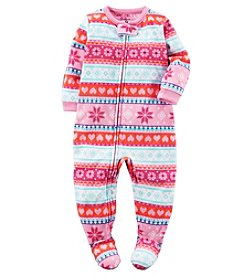 Carter's® Girls' One-Piece Fleece Fair Isle Sleeper