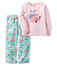 Carter's® Girls' 2-Piece Fleece Goodnight Fox Pajama Set