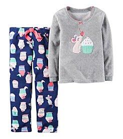 Carter's Girls' 2-Piece Mouse & Cupcakes Pajama Set