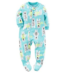 Carter's® Boys' One Piece Fleece Polar Bear Sleeper
