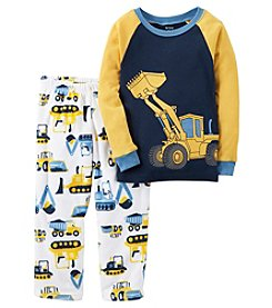 Carter's® Boys' 2-Piece Cotton & Fleece Construction Pajama Set