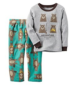 Carter's® Boys' 2-Piece Cotton & Fleece Adventure Bear Pajama Set