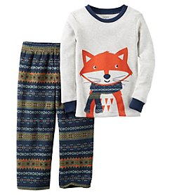 Carter's® Boys' 2-Piece Cotton & Fleece Fox Fair Isle Pajama Set