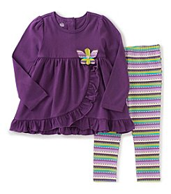 Kids Headquarters® Girls' 2T-6X 2-Piece Butterfly Tunic And Leggings Set