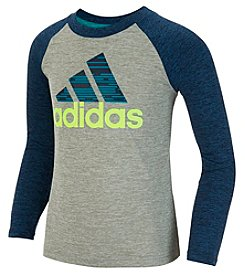 adidas® Boys' 2T-7 Long Sleeve DNA Raglan Tee