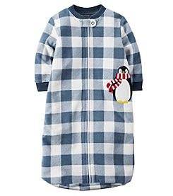 Carter's® Baby Boys Plaid Penguin Sleepbag