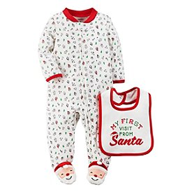 Carter's® Baby First Visit From Santa Footie With Bib