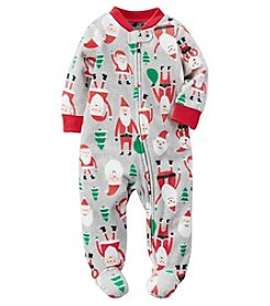Carter's® Baby Boys All Over Santa Footie