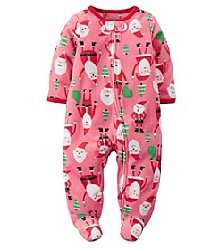 Carter's® Baby Girls' Fleece All Over Santa Footie