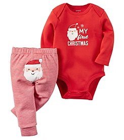 Carter's® Baby 2-Piece First Christmas Bodysuit Set