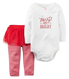 Carter's® Baby Girls' 2-Piece Merry & Bright Tutu Leggings Set