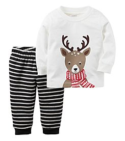 Carter's® Baby Boys 2-Piece Reindeer Tee Set