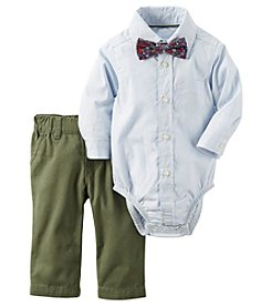 Carter's® Baby Boys 2-Piece Plaid Bow Tie Set