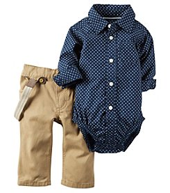 Carter's® Baby Boys 2-Piece Dot Suspender Pants Set