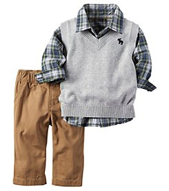 Carter's® Baby Boys 3-Piece Sweater Vest Set
