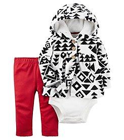 Carter's® Baby Girls' 3-Piece Geo Hoodie Set