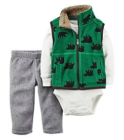 Carter's® Baby Boys 3-Piece Bear Vest Set