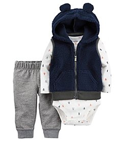 Carter's® Baby Boys 3-Piece Hooded Vest Set