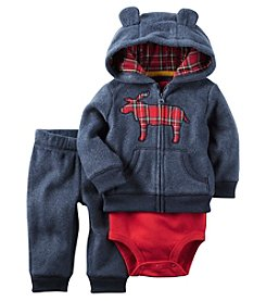 Carter's® Baby Boys 3-Piece Moose Hoodie Set