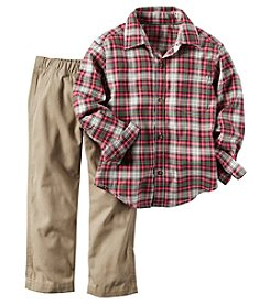 Carter's® Baby Boys 2-Piece Plaid Shirt And Pants Set