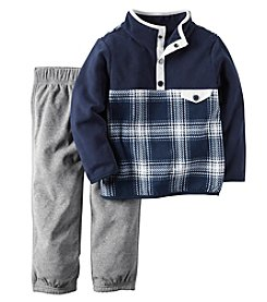 Carter's® Baby Boys 2-Piece Plaid Pullover And Joggers Set