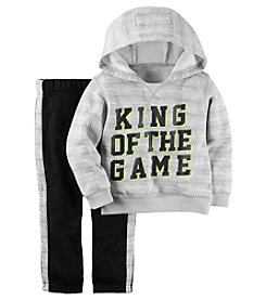 Carter's® Baby Boys' 2-piece King of the Game Hoodie and Pants Set
