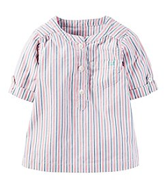 Carter's® Baby Girls' Short Sleeve Striped Top