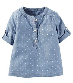Carter's® Baby Girls' Short Sleeve Dot Top